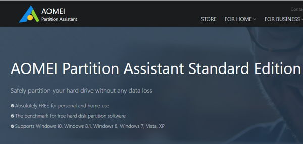 AOMEI for disk partition