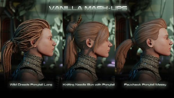 Change hairstyles of female characters